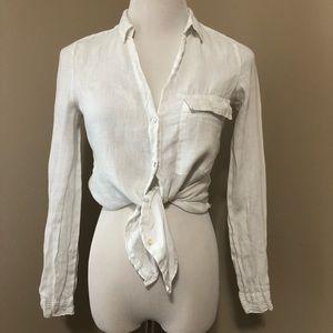 Zara basic linen button down